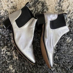 Dolce Vita Bowie mod Silver Chelsea boots 7.5
